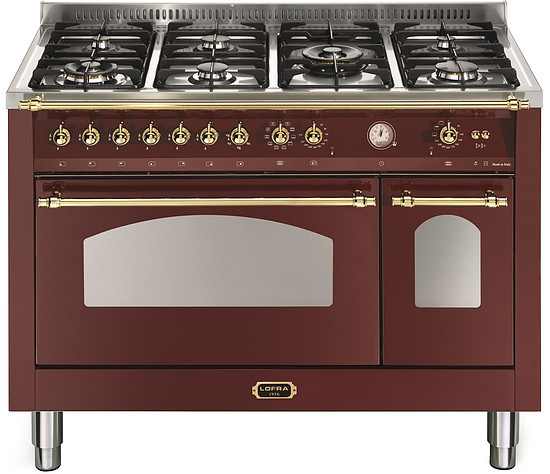 Lofra RRD 126 MFT+E / 2AEO - Burgundy - Messing Finish